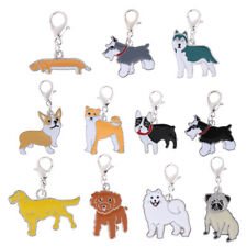 Cute Keychain Pet Dog Pendant Key Chain Ring for Dog Lover Jewelry Ornament