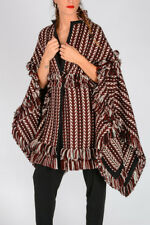 BURBERRY New Woman Multicolor Wool & Silk Knitted Poncho Cape Made in Italy NWT