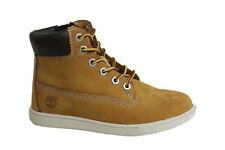 Timberland Groveton Lace Up Side Zip Wheat Nubuck Leather Toddler Boot A163E T1
