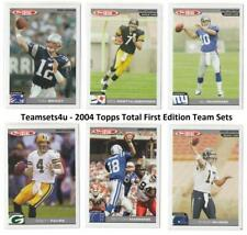 2004 Topps Total First Edition Football Team Sets ** Pick Your Team Set **