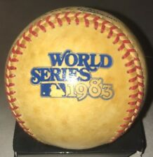 Vintage Rawlings 1983 World Series Official Game Baseball Haiti Stamp Orioles