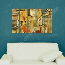 READY TO HANG CANVAS Violin And Grapes Pablo Picasso 5 Panels Framed Wall Art