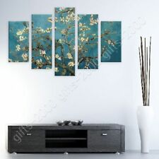 READY TO HANG CANVAS Almond Blossom Vincent Van Gogh 5 Panels Framed Wall Art