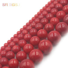 """2 4 6 8 10 12mm Natural Round  Red Sea Bamboo Coral Gemstone Jewelry Beads 15"""""""