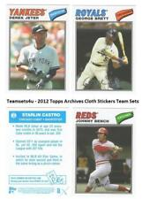 2012 Topps Archives Cloth Stickers Baseball Set ** Pick Your Team **