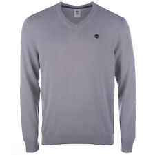Men&Apos;S Timberland Stonybrook Cotton V Neck Knit In Grey From Get The Label
