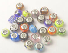 New 25PCS Mixed Colors Fashion European Murano Glass Beads Fit Charm Bracelet