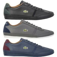Lacoste Men's Shoes Misano Leather Shoes Casual Leather Trainers Top NEW
