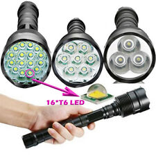 Tactical Tactical 80000LM  16*T6 LED Flashlight 5Modes 18650 Torch Lamp Light