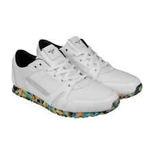 Creative Recreation Casso Mens White Canvas & Leather Athletic Running Shoes