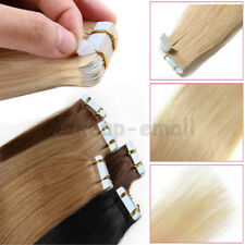 20/40/60pcs Blue Tape in 100% Remy Human Hair Extensions Smooth Skin Weft AU