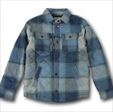 NWT Hollister by Abercrombie&Fitch Quilted Cotton Flannel Jacket S Blue Plaid