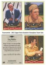 2011 Upper Deck Goodwin Champions (1-210) Set ** Pick Your Team **