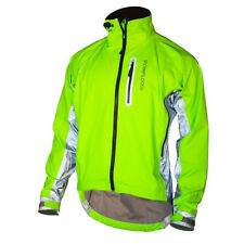Showers Pass Men's Hi-Viz Elite Cycling Jacket w/Red LED Beacon - 1201 (Neon
