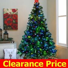 7Ft Fiber Optic Artificial Christmas Tree W/Stand 350 LED Multi Color Lights