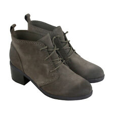Bostonian Nevella Harper Womens Gray Suede Casual Dress Lace Up Boots Shoes