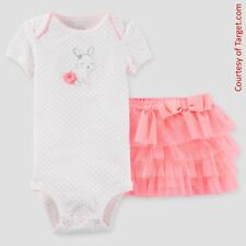 Easter Carters Just One You Bunny Bodysuit & Tutu Outfit (3 Months - 9 Months)