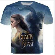 Beauty And The Beast Casual Funny 3D Print Graphic Tee Women's/Men's T-Shirt r54