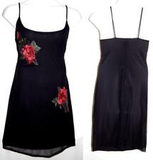 2X or 3X Sexy Black Mesh 3-D Rose EmbroIdery Party Slip Dress Plus Torrid Bow