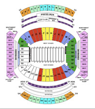 Four (4) Alabama vs. Texas A&M Football Tickets - Section B, Row 2