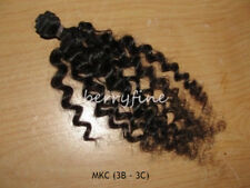 Virgin Mongolian Kinky Curl/Curly Human Hair Weft Extensions - Natural - Sample