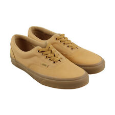 Vans Era Mens Tan Leather Lace Up Sneakers Shoes