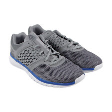 Reebok Pt Prime Runner Mens Gray Mesh Athletic Lace Up Running Shoes