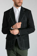 MAISON MARTIN MARGIELA MM14 New Man Embroidered Wool Blend Blazer Made in Italy