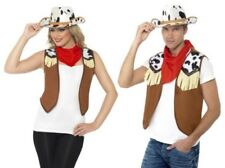 Wild West Cowboy Cowgirl Kit Ladies Mens Instant Fancy Dress Outfit