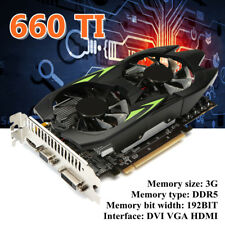 GTX660TI 3GB GDDR5 192bit VGA DVI HDMI Graphics Card w/ Fan For NVIDIA GeForce