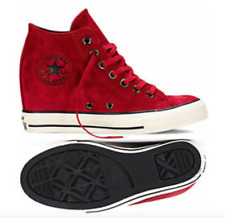 Converse Chuck Taylor All Star Ct Lux Mid 550671c Suede Dahlia Red Wedge Women