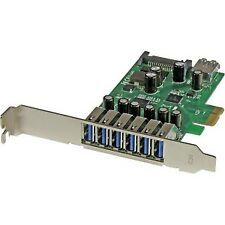 NEW! Startech 7-Port Pci Express Usb 3.0 Card Standard And Low-Profile Design 7