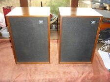 Vintage Wharfedale DENTON 2  TEAK CABINETS HiFi Speakers, Classic British Audio