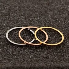 New Stainless Steel/Crystal Couple Ring Simple Fashion Finger Rings Wedding Gift