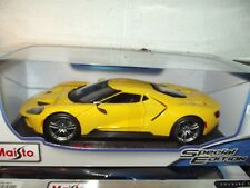 Maisto 1/18 2017 Ford GT Yellow NIB