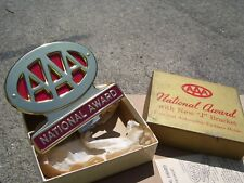 Vintage nos 60s minty AAA award auto emblem badge gm ford chevy rat rod pontiac (Fits: 1938 Buick)