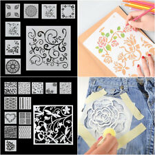 7/13pcs Embossing Template Scrapbooking Walls Painting Layering Stencils Crafts