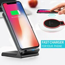 For iPhone Samsung Galaxy S8/S9 Plus Wireless Qi Fast Charger Charging Stand Pad