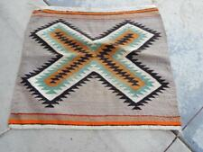 VINTAGE NAVAJO INDIAN EYE DAZZLER SINGLE SADDLE BLANKET XLNT DESIGN + COLORS
