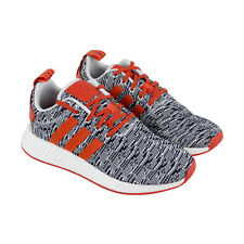 Adidas Nmd R2 Mens Gray Textile Athletic Lace Up Running Shoes