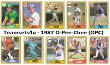 1987 O-Pee-Chee (OPC) Baseball Set ** Pick Your Team **