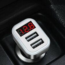 HOCO Z3-2U Dual USB Ports Car Charger LCD Voltage Current Tester RA
