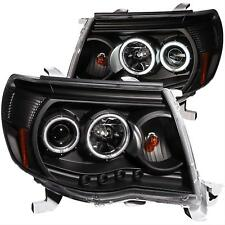 NEW ANZO 121282 Set of 2 Black CCFL Halo Projector Headlights for 05-11 Tacoma