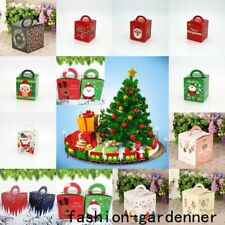 5/10X 40 Style Merry Christmas Party Paper Favour Sweets Carrier Bags Boxes Gift