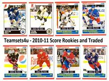 2010-11 Score Rookies and Traded Hockey Set ** Pick Your Team ** See Checklist