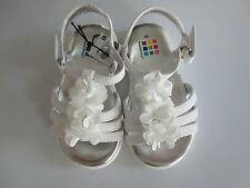 NEW Girl Infant *3-6**6-9**9-12* months HEALTHTEX White Shoes Sandals Flowers