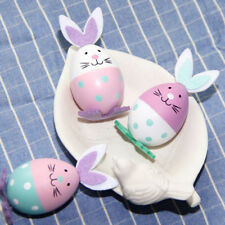 3pcs Bunny Easter Egg Ornaments Hanging Decoration Easter Party Decor Gifts