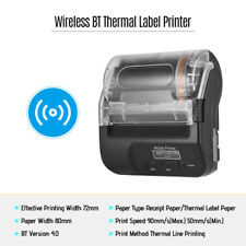 Wireless BT 80mm Thermal Printer For Thermal Receipt Paper+ Self-Adhesive Label