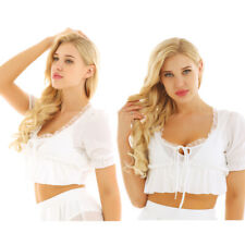 Women Ladies Summer Short Sleeve Chiffon T-shirt Casual Party Blouse Crop Top