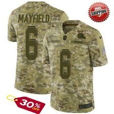 New Baker Mayfield #6 Cleveland Browns Camo Men's Jersey stitched Free Shipping